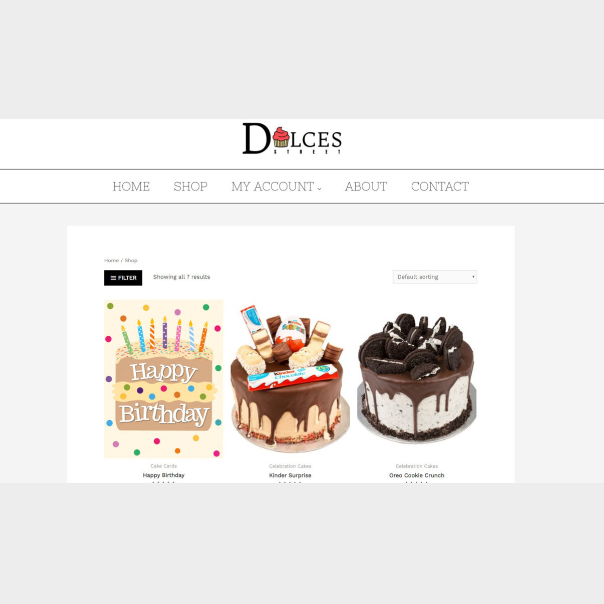A sales page of a local patisserie that sells cakes online. Website developed by The Marketing Rocket - Taunton, Somerset - Wed Design & SEO Marketing Agency