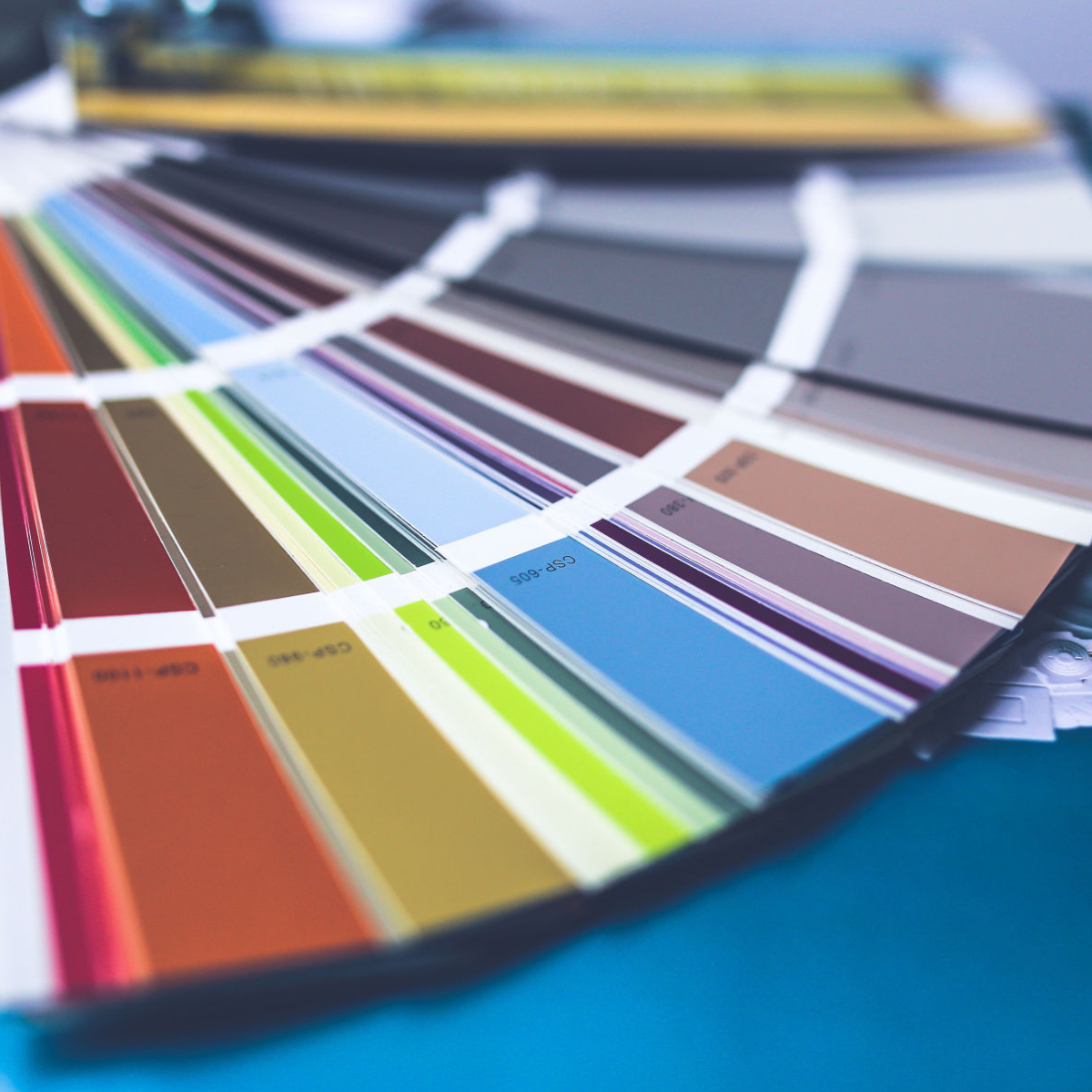 The use of colour cards and how colour theory works. Our websites are designed in WordPress & colour selection is a key part of keeping a website on brand - The Marketing Rocket - Taunton, Somerset - Wed Design & SEO Marketing Agency