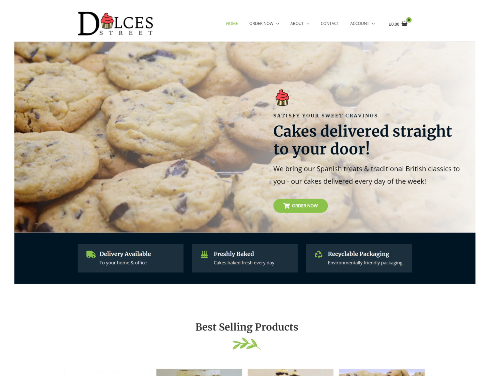 Dulces Street Mockup